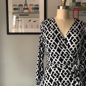 INC • Trellis Print Wrap Dress